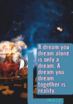A dream you dream inspirational quote in English