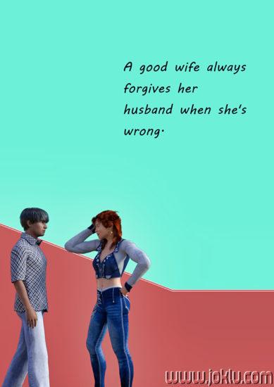 A good wife always short joke