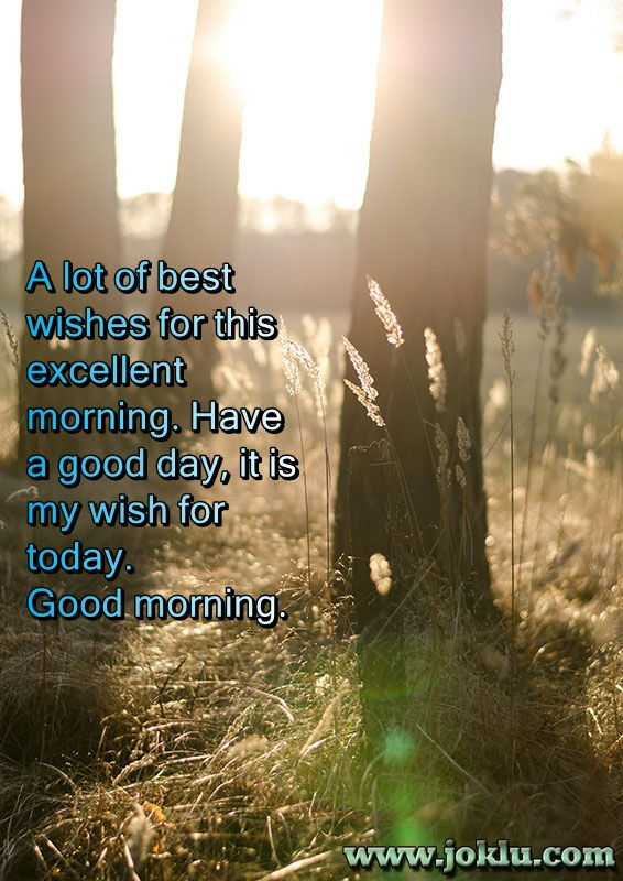 A lot of best wishes good morning message