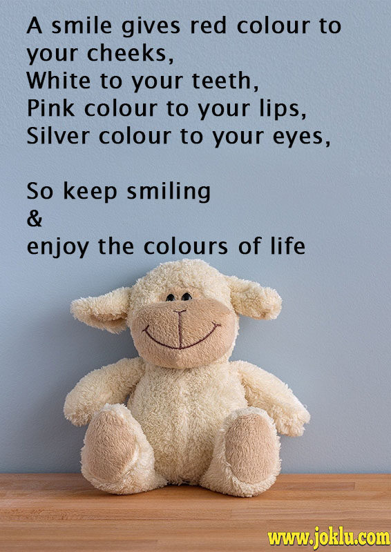 A smile gives red colour friendship message in English