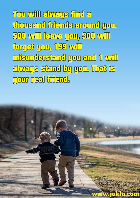 A thousand friends friendship message