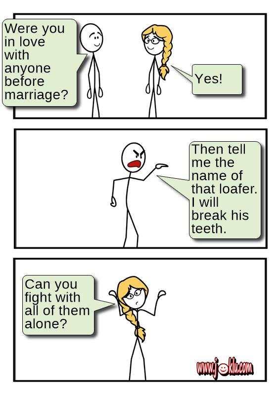 Affair before marriage joke in English