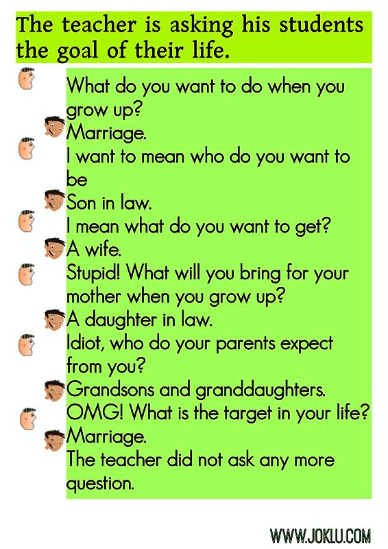 Aim of life joke in English