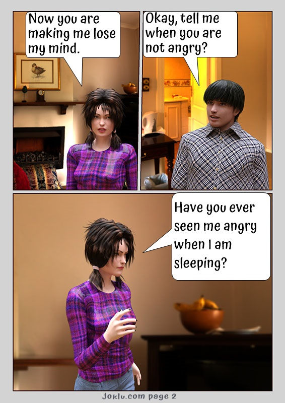 Angry wife funny comics in English page 2