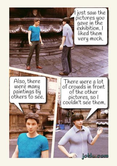 Art exhibition joke