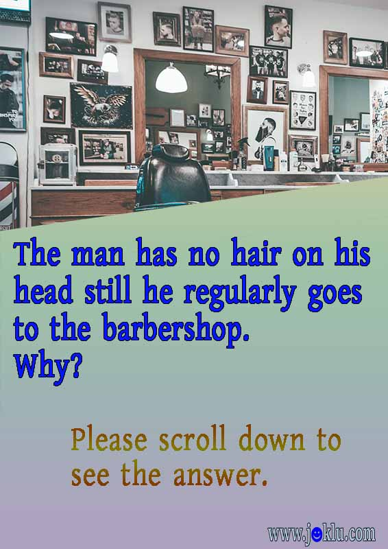 Barbershop riddle in English