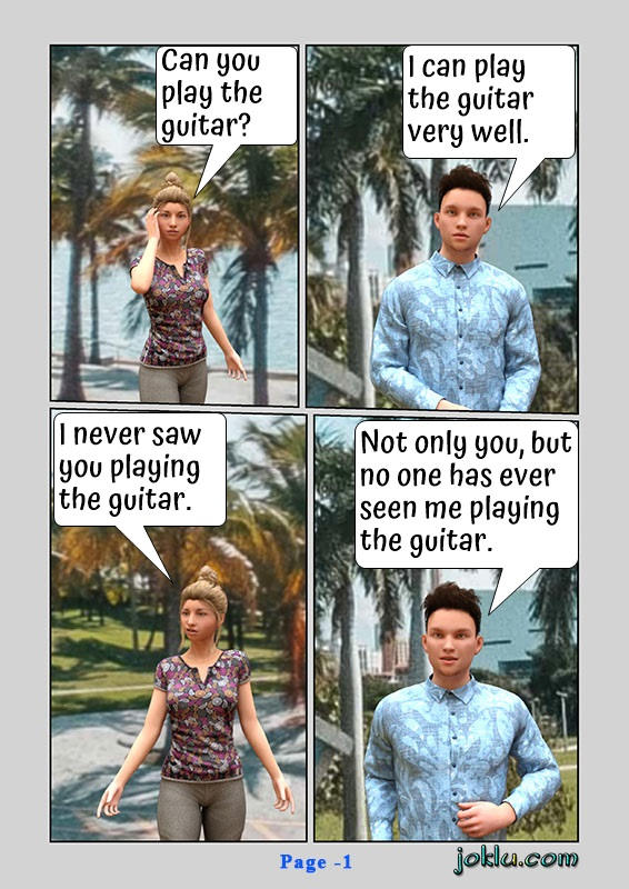 Best guitar player funny English comics page 1