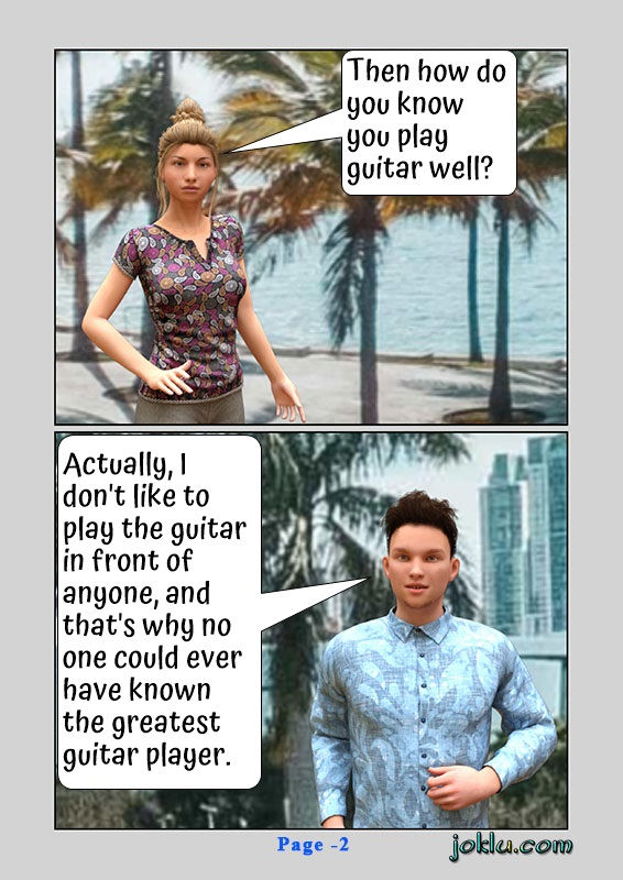 Best guitar player funny English comics page 2