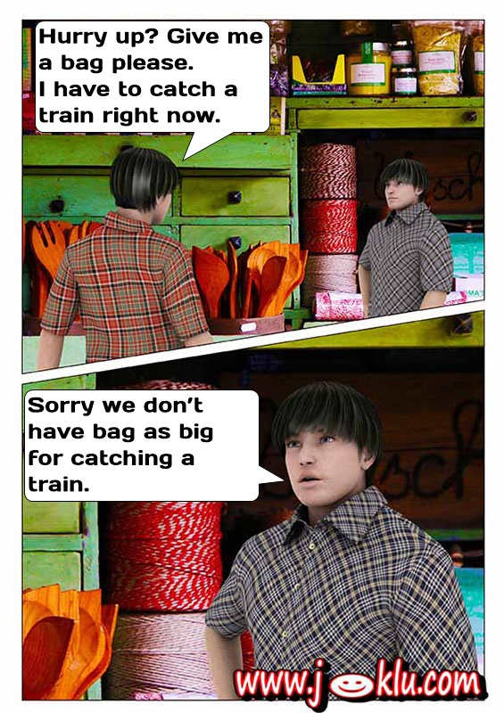 Catch a train joke in English