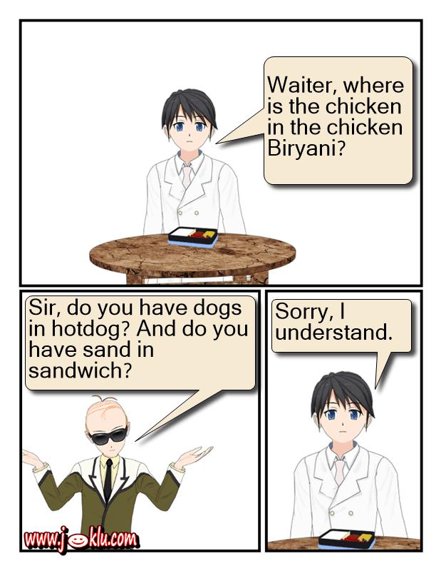 Chicken Biryani joke in English