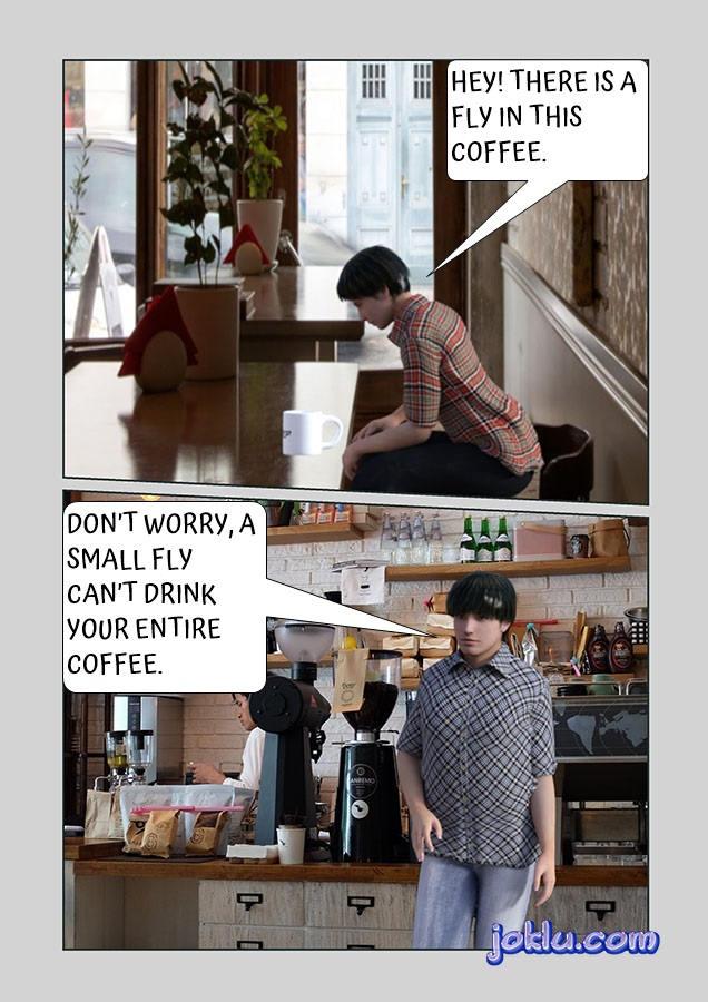 Coffee shop fly joke
