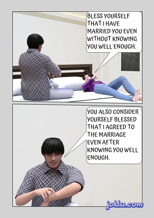 Couple after marriage joke