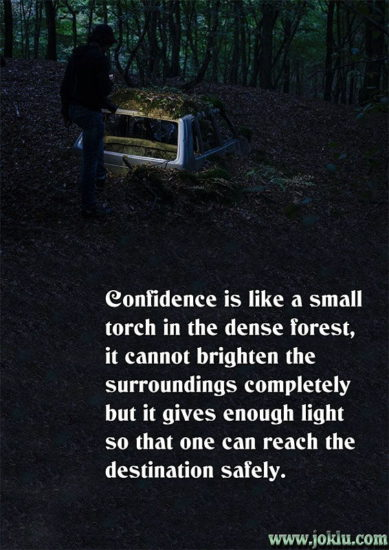 Destination with confidence inspirational message