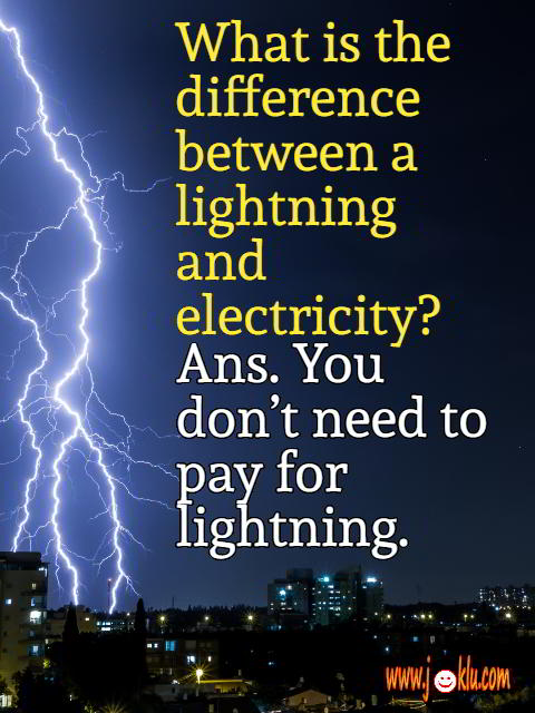 Difference between lightning and electricity short joke