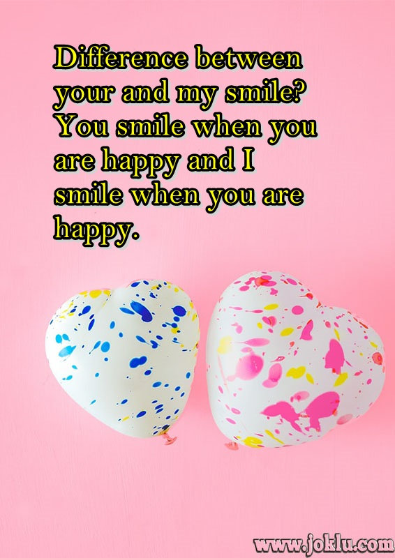 Difference between smile love message in English
