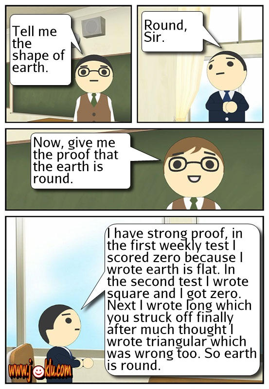 Earth is round joke in English
