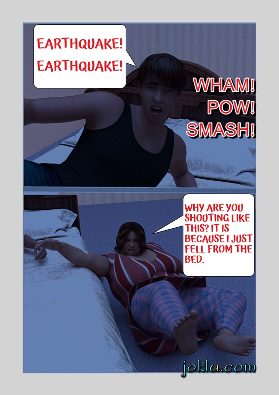 Earthquake at night joke