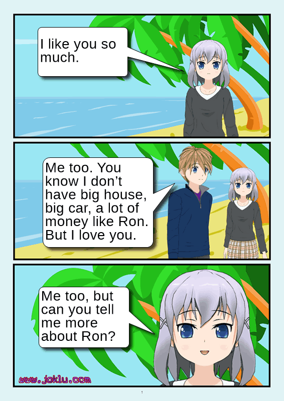 Expression of love joke in English