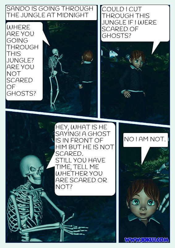 Ghost at night Comics page 1