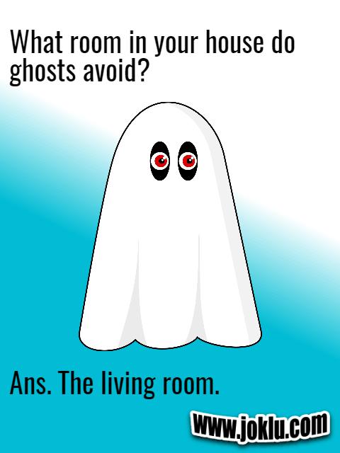 Ghosts avoid it short question answer joke