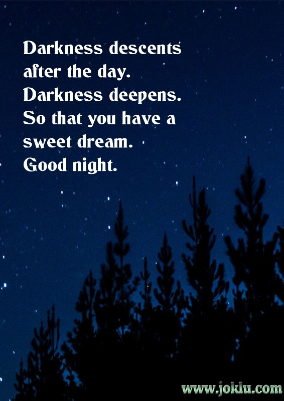 Good night for you good night message in English