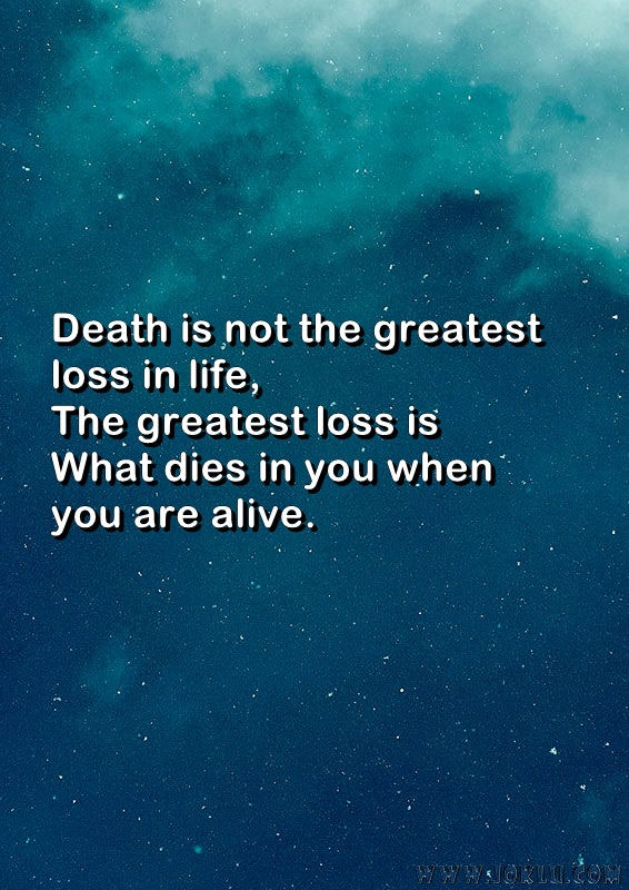 Greatest loss in life inspirational message in English