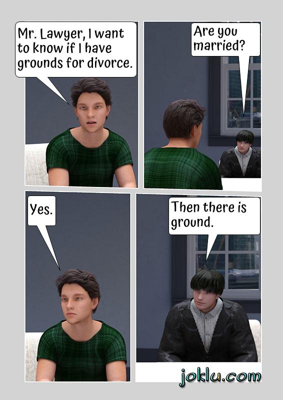 Ground for divorce joke in English