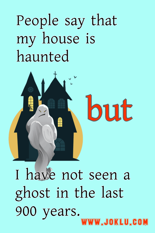 Haunted house funny short joke in English