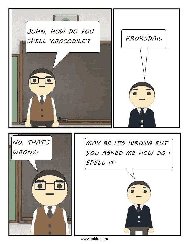 How to spell joke