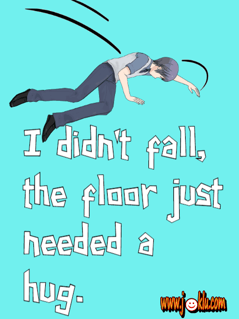 I didn't fall funny quote