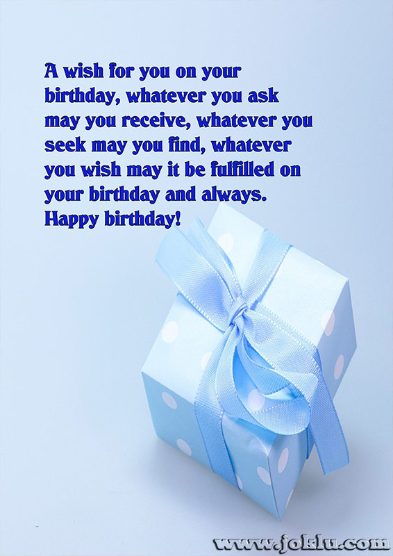 I wish for you on your birthday message in English