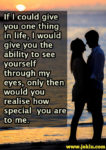 If I could give you one thing in life love message in English
