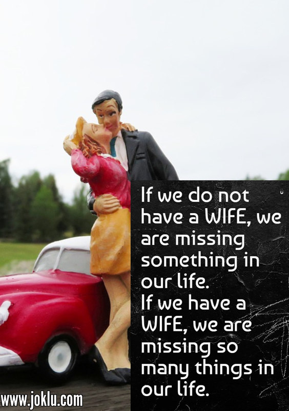 If we do not have a wife funny quote in English