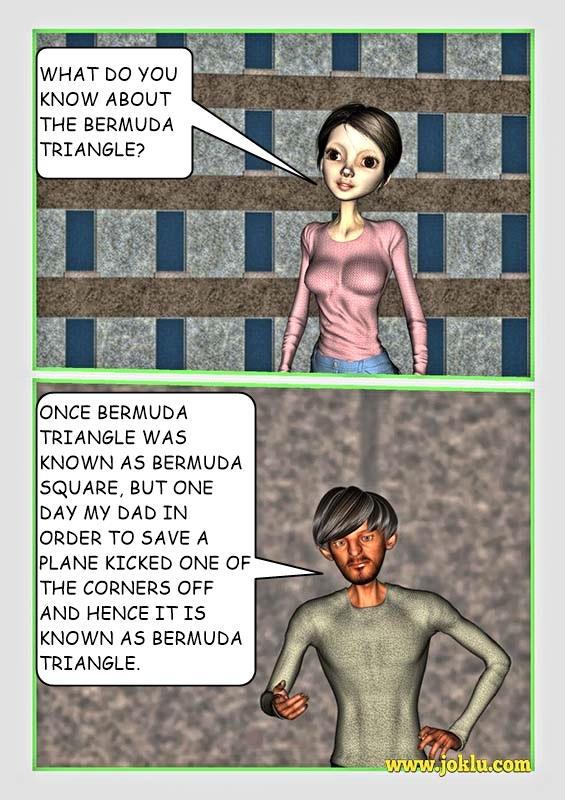 Incredible dad Bermuda Triangle joke in English