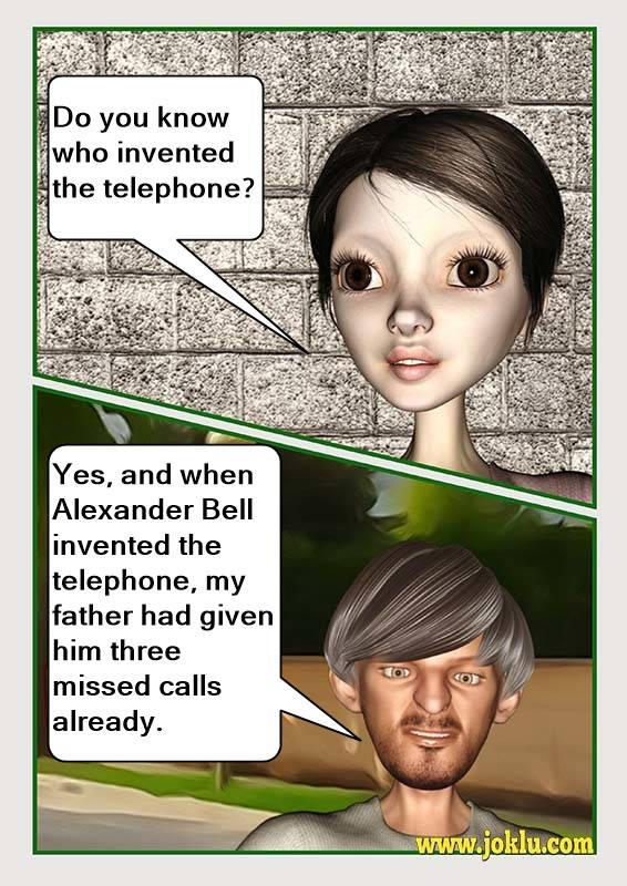 Incredible dad telephone joke in English