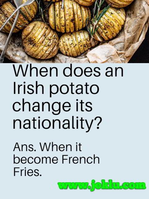 Irish potato short joke