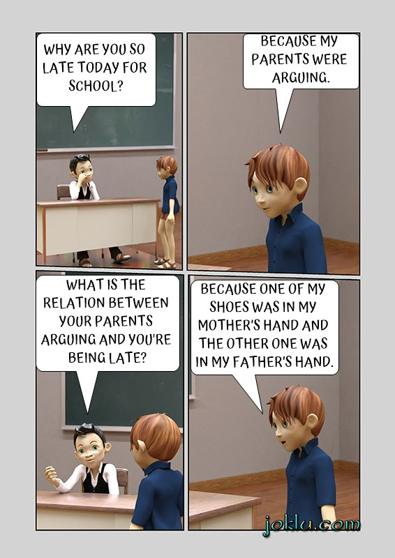 Late today teacher student joke