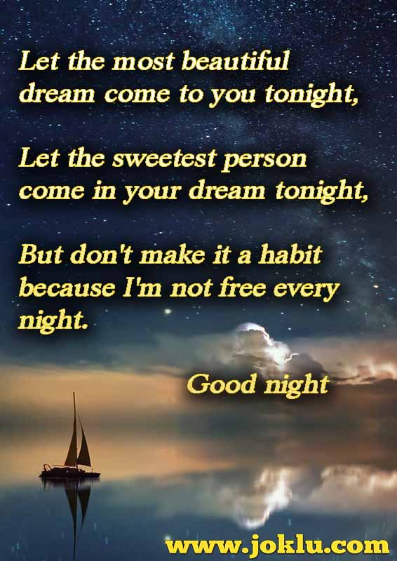 Let the most beautiful good night message in English