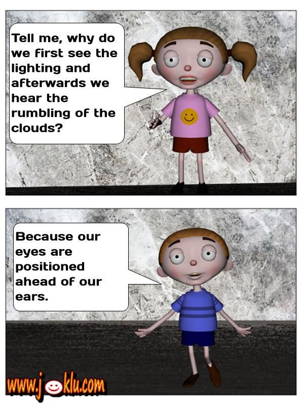 Lightning sound joke in English