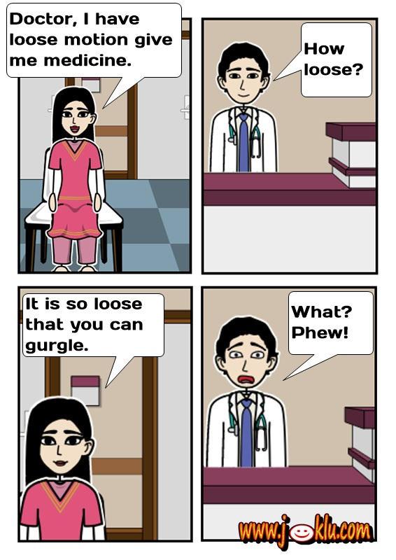 Loose motion joke in English