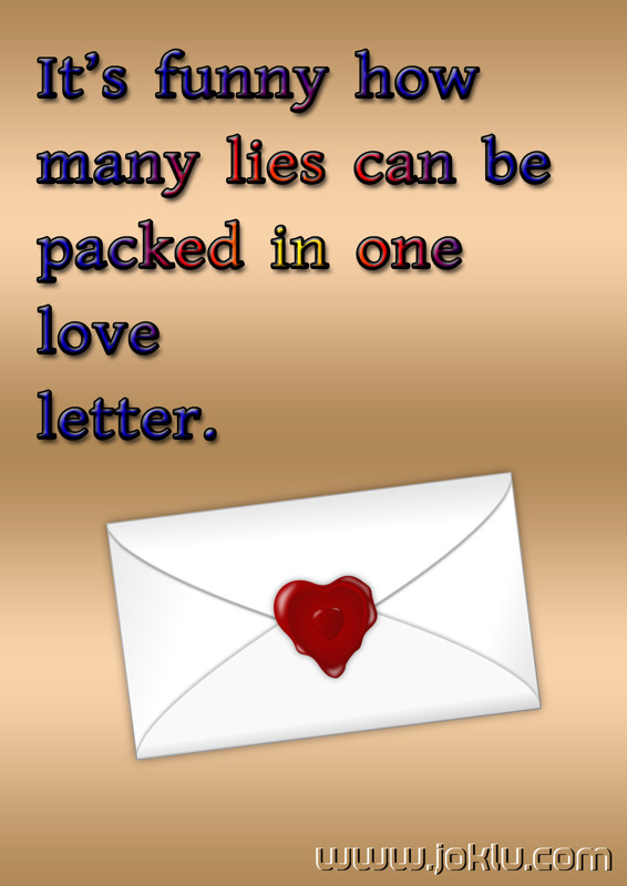 Love letter funny quote in English