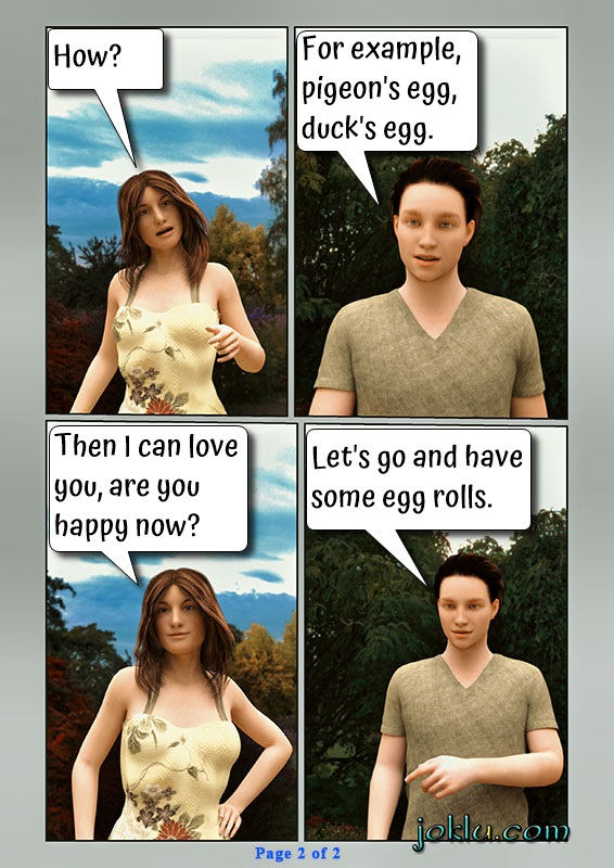 Love proposal English comics page 2