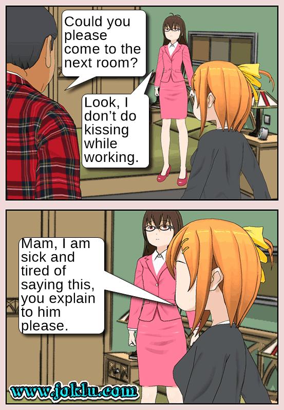 Maid said joke in English