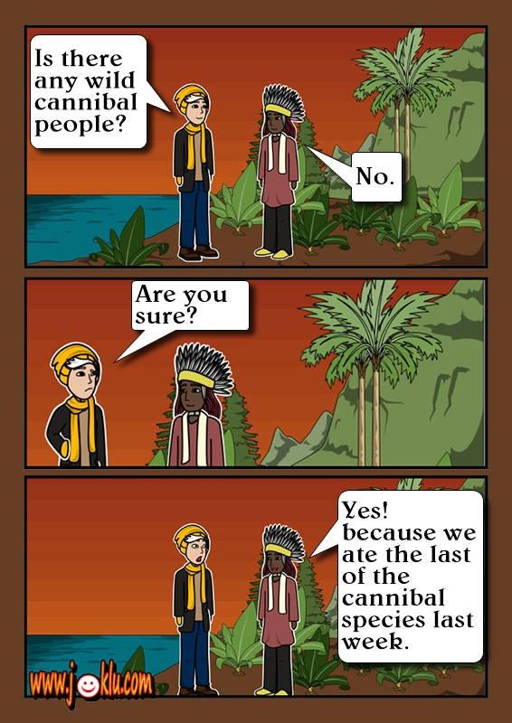 Man-eater joke in English