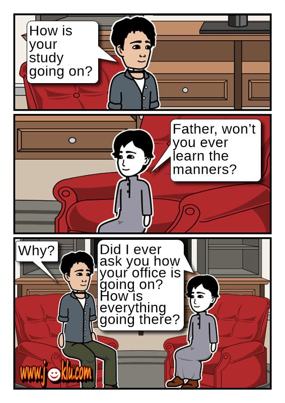 Manners joke in English