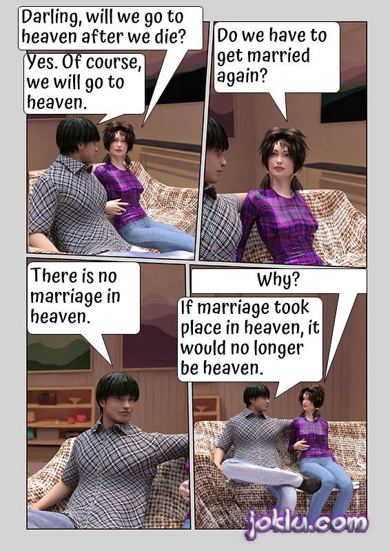 Marriage in the heaven joke