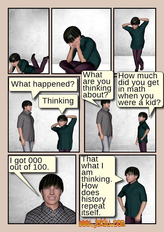 Math exam joke in English
