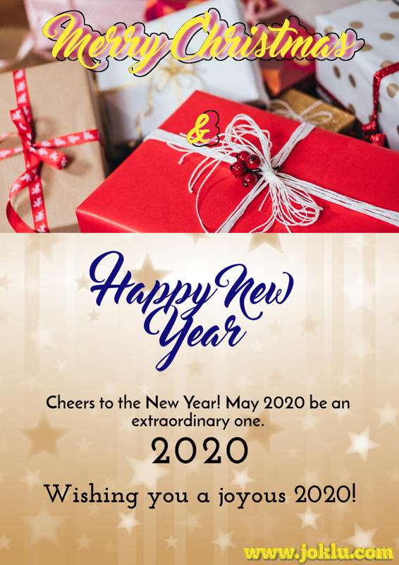 Merry Christmas and happy new year 2020 greetings card