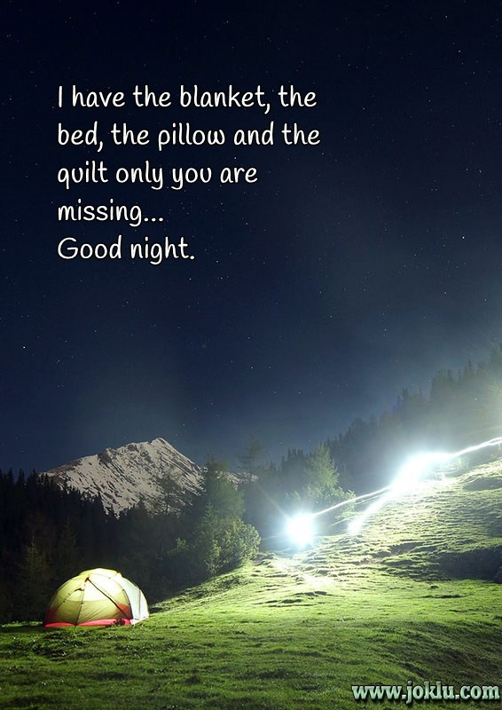 Missing you good night message in English