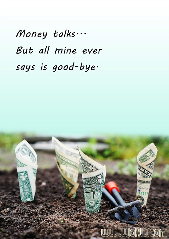 Money talks short joke in English